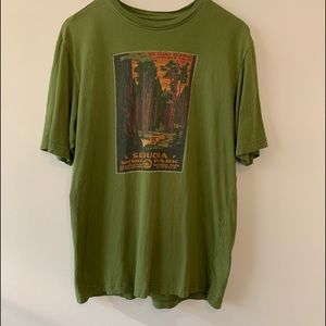 Merrell green National Park Sequoia T-shirt sz M